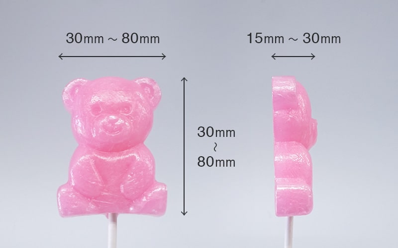 3Dキャンディー 形状・サイズ