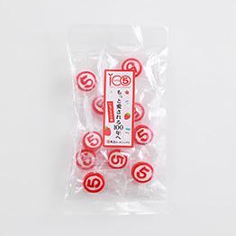 実際にパッケージングされたオリジナルキャンディー