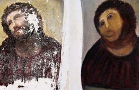 キリスト修復画像