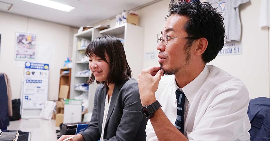 中日新聞社 丹波さんと末永さん
